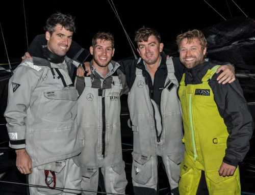 Hugo Boss finish 3rd in the Rolex Middle Sea Race